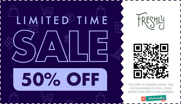 Freshly discount code coupon -  40 off your first order with coupon