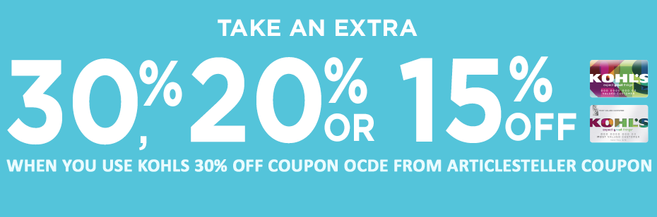 kohls 30 off coupon code and promo